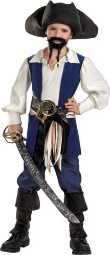 Disney's Pirates Captain Jack Standard Costume: Boy's Size 4-6 (Jack Sparrow Boys Costume)