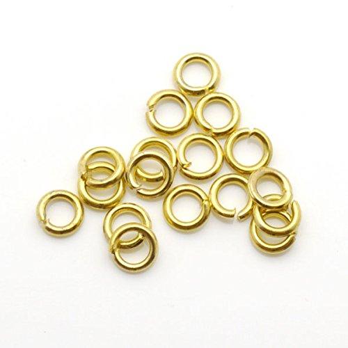 thetastejewelry 5/mm 17/G redondo anillos de engarce dorado tono Lot 500/pcs conclusiones Jewelry Making acabados