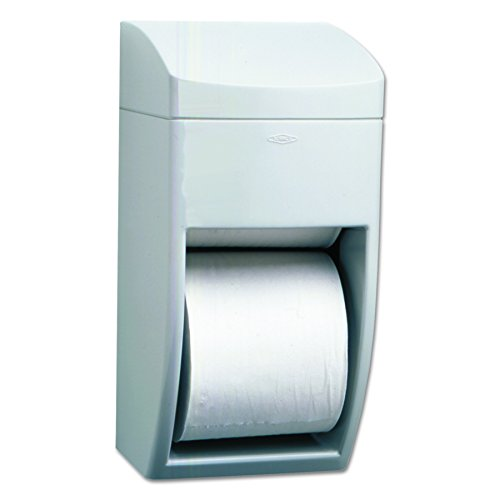 Bobrick Toilet Paper Holder - Bobrick 5288 Matrix Series Two-Roll Tissue Dispenser, 6 1/4w x 6 7/8d x 13 1/2h, Gray