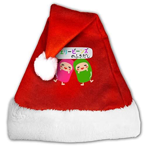 FQWEDY Love Jelly Beans Unisex-Adult's Santa Hat, Velvet Christmas Festival Hat]()