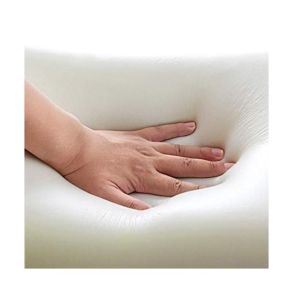 NOFFA Oreiller Cervical Doux, Oreiller en Mousse Comme Latex, Oreiller Cervicaux Contour Pour Support de Cou 55×34 cm…