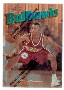 Allen Iverson basketball card 1997 Topps Finest #57 Chrome ...