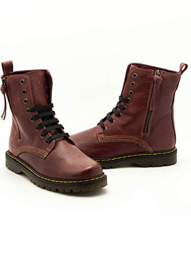 450 Cuir Bottines Bordeaux Rouge D'liro 12 wqI71I