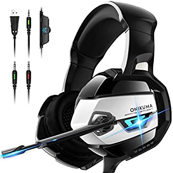 Onikuma K5-M Over-Ear Gaming Headphones with Noise Canceling Mic