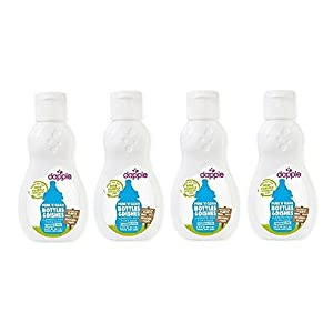 dapple 3 oz. Pure 'N' Clean Bottles and Dishes Dishwashing Liquid in Fragrance-Free (4 Pack)