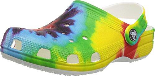 Crocs Unisex Classic Tie Dye Graphic Clog, Multi, 5 M US Big Kid