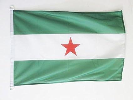 AZ FLAG Bandera de Andalucia ARBONAIDA 90x60cm Uso Exterior - Bandera INDEPENDENTISTA ANDALUZA - NACIONALISMO Andaluz 60 x 90 cm Anillos