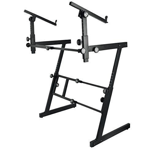 On-Stage KS7365EJ Pro Heavy-Duty Folding-Z Keyboard Stand with 2nd Tier by OnStage