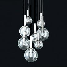 Sonneman 3768.35, Bubbles Large Round Pendant, 8 Light, Polished Nickel