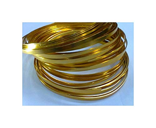 Gold Flat Wire 3/16 X 32ft Long by Oasis