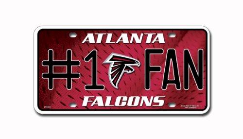 Atlanta Falcons License Plate (NFL Atlanta Falcons #1 Fan Metal Auto Tag)