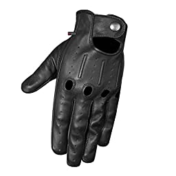 Mens Transporter Genuine Lambskin Aniline Leather Driving Gloves Touchscreen L