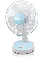 "PowerPac 12"" Desk Fan with Oscillation & Timer"