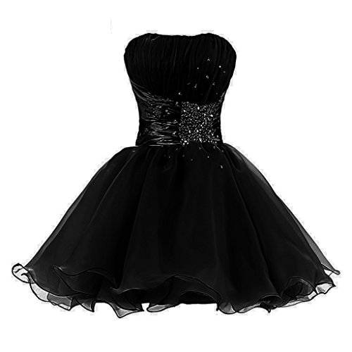 Tivansi Women's Short Homecoming Prom Cocktail Dresses black Size 18