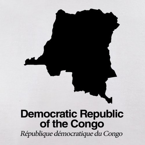 Democratic Republic of the Congo / Demokratische Republik Kongo Silhouette - Herren T-Shirt - Weiß - M