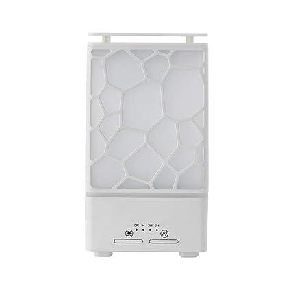 Máquina de aromaterapia de cubo de agua Aceite esencial Dispensador de aerosol ultrasónico Luz de noche