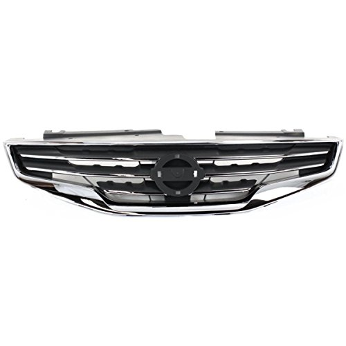 - New Front Grille For 2010-2012 Nissan Altima Sedan Chrome Shell With Black Insert NI1200236