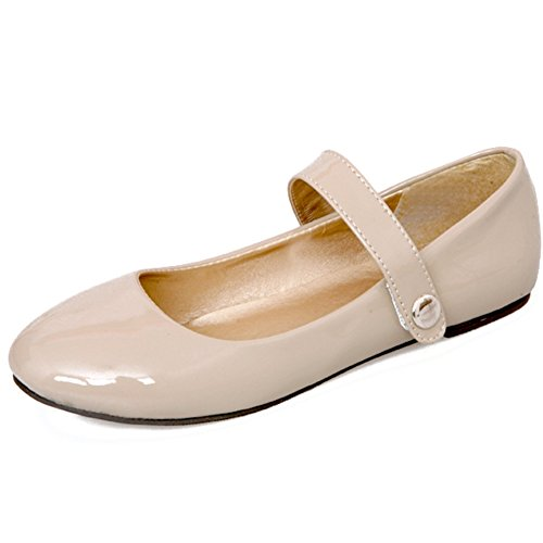Strap Sarairis Sweet Casual Shoes Mary Jane Heel apricot Ankle Shoes Women's Flat x46BY
