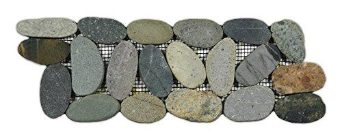 Sliced Bali Ocean Pebble Tile Border 1 piece