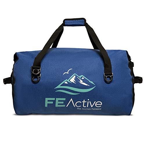 FE Active – 60 Liters Duffel Dry Bag Large Waterproof Backpack Travel Bag Sack for Camping, Outdoors, Water Sports, Hiking, Kayaking, Boating, Rafting, Trekking | Designed in California, USA