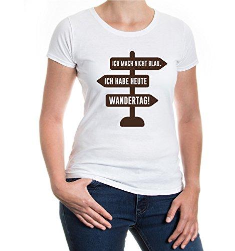 buXsbaum® Girlie T-Shirt Ich mach nicht blau. Ich habe heute Wandertag!:  Amazon.de: Bekleidung
