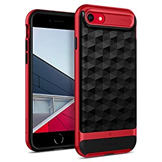 Caseology Parallax for Apple iPhone SE 2020 Case 4.7 inch for iPhone 8 (2017) for iPhone 7 (2016) - Red