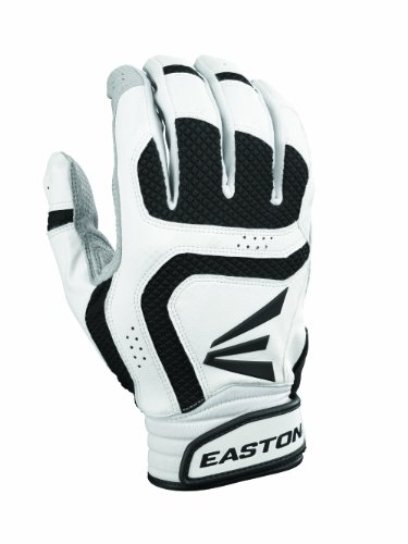 Easton Youth Vrs Icon Batting Gloves (Large, White/Black)