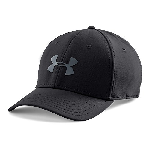 Under Armour Men's Headline Stretch Fit Cap, Black/Graphite