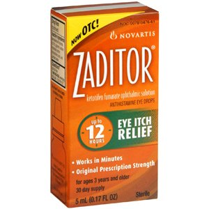 (NOVARTIS PHARMACEUTICALS *** ZADITOR OPTH SOLUTION 0.025% 5ML)