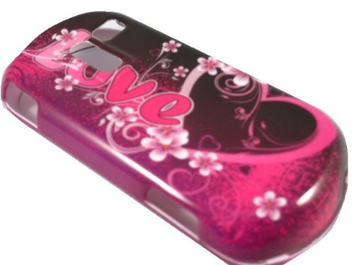 Love With Heart Hard Shell Faceplate Cover Phone Case For Samsung R455c Sch-R455c (Samsung R580 Keyboard compare prices)