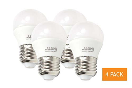 J.LUMI 40W Equivalent LED A15 Light Bulb - 5W Accent Light Bulb with E26 Base, 3000K Soft White, Not Dimmable (4 PACK) (Led Light Bulbs For Ceiling Fans compare prices)