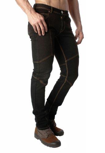 Green Banana Jeans Löwenwappen und Flügel Design Original Slim Fit Stretch Straight Leg Denim Blue Jean