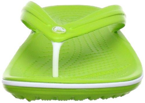 Unisex Chanclas Crocs White Volt Adulto Verde Green Flip Crocband qrI7ITpEa