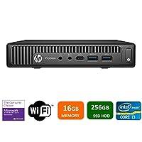 Newest HP 600 G2 Micro Computer Mini Tower PC (Intel Quad Core i3-6100T, 16GB DDR4 Ram, 256GB Solid State SSD, WIFI, VGA, USB 3.0) Win 10 Pro (Certified Refurbished)