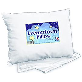 Dreamtown-Kids-Toddler-Pillow-with-Pillowcase-14x19-White-Made-in-USA