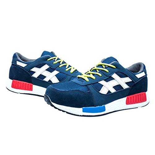Azul Ligeras Comodas Seguridad Hibote De Para Zapatillas Calzado Hombre S3 Trabajo wxqRAvUX17