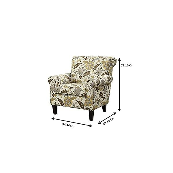 Coaster Home Furnishings Flower Pattern Accent Chair Cream and Cappuccino