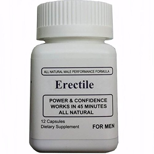 Erectile All Natural Herbal Male Enhancement Supplement for Men -12 Capsules - Erectile Enhancement Formula