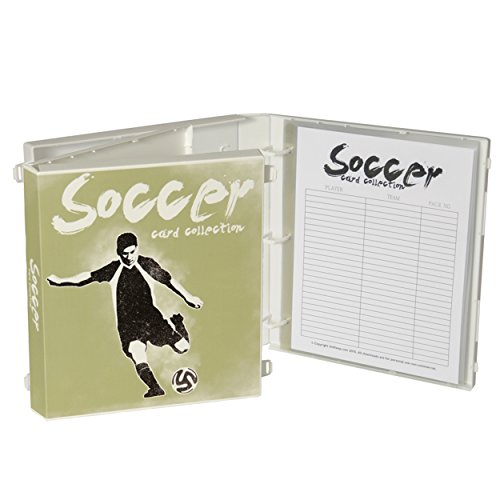 UniKeep Soccer Themed Trading Card Storage Binder - Comes Complete with Acid Free Plastic Pages to Hold up to 180 -