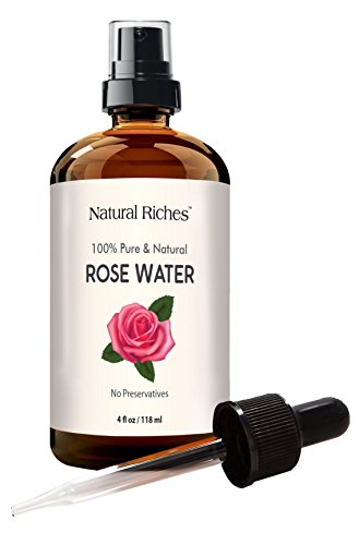 Rose Water Facial Toner Spray - 100% Natural Organic Bulgarian Rosewater Face toner 4 oz Natural Acne Treatment with sprayer and dropper (chemical - Crabtree Stores In