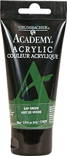 Grumbacher Academy Acrylic Paint, 75ml/2.5 Ounce Plastic Tube, Sap Green (C187P)