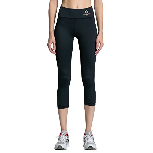 Dynamic Athletica Compression Capri Leggings For Women/Slimming Yoga Pants/Tights & Workout Clothes