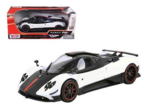 pagani-zonda-5-cinque-white-black-1-18-by-motormax-79158