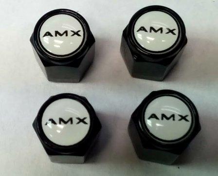 oration AMX AMC Valve Stem Caps (Black - AMX) ()