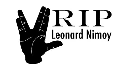 R i p leonard nimoy car decal spock sticker 10quot