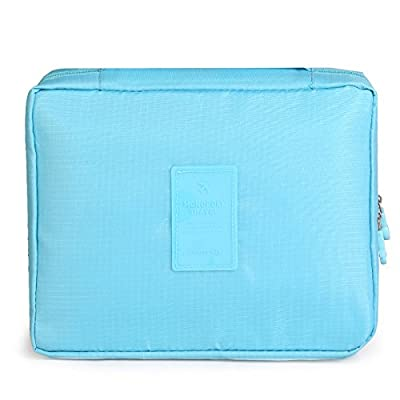 LULANMesdames sac cosmétique sac cosmétique voyage pochette portable voyage forfait de lavage à l'eau le groupe d'admission ,21*8*18cm, bleu