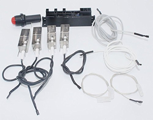 Broilmann BBQ Grill Igniter Kit for Summit Gold/Platinum D/D6, Weber # 42326 (DOES NOT INCLUDE SIDE/AUX BURNER - Aux Sunglasses