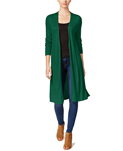 INC International Concepts Women's Rib-Knit Duster Cardigan Hunter Forest Small