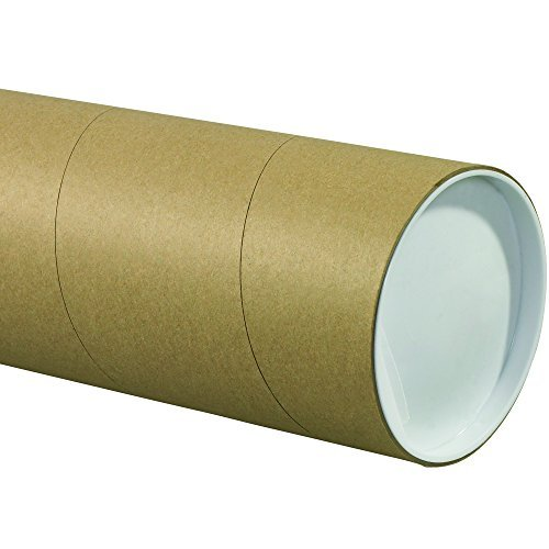 Tape Logic TLP5024KHD Jumbo Mailing Tubes, 5' x 24', Kraft (Pack of 15)
