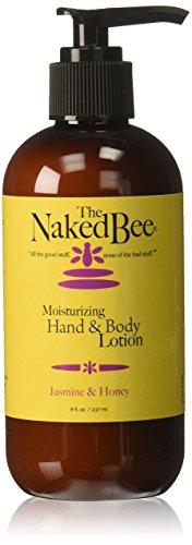 The Naked Bee Moisturizing Hand & Body Lotion, 8 Ounce, Jasmine & Honey